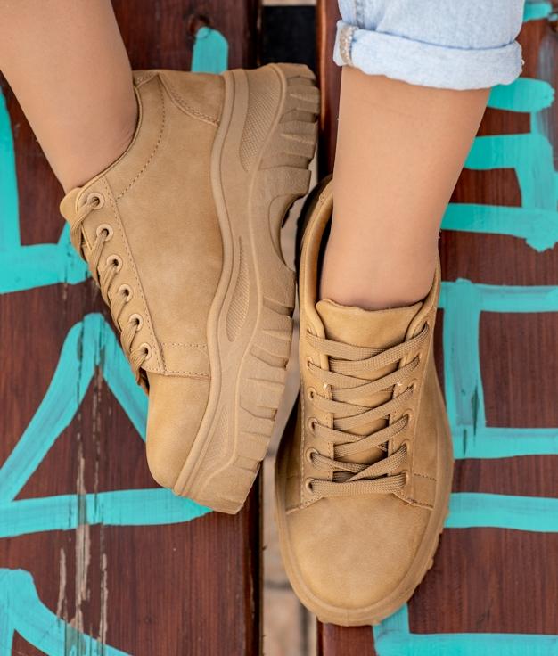 Sneakers Juten - Chameau