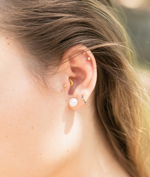 Earrings Perla - White