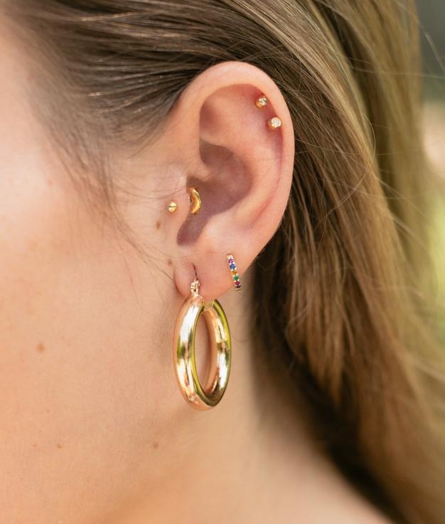 Earrings Ring - Gold