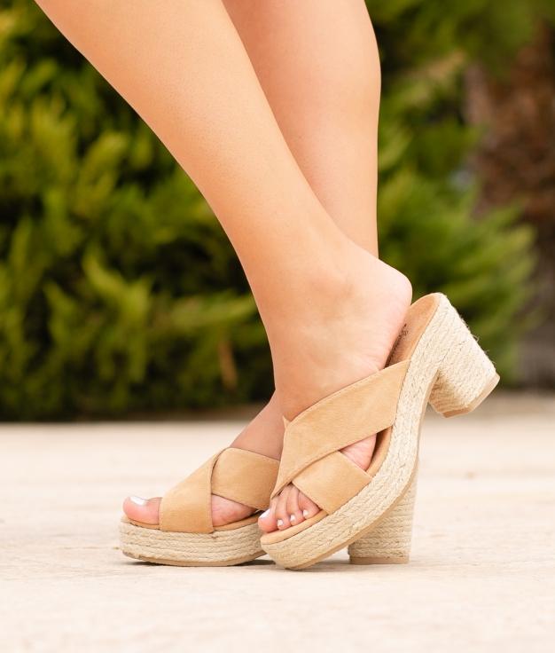 Sandália de Salto Oracu - Camelo