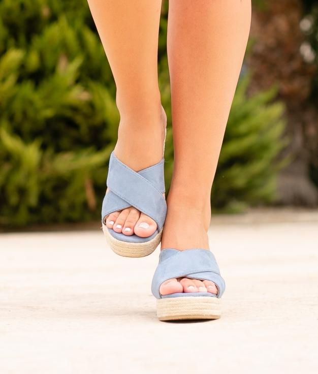 Sandália de Salto Oracu - Azul