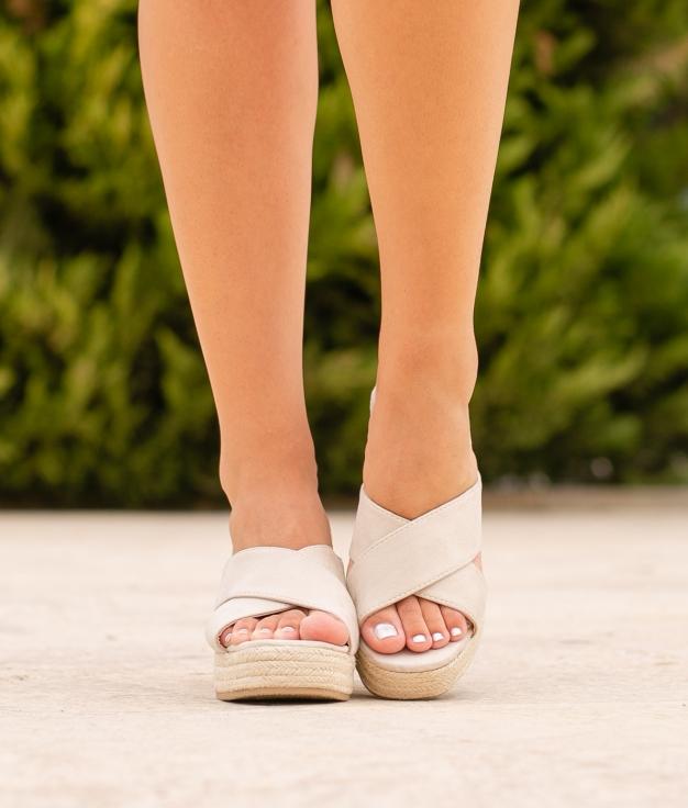 Sandália de Salto Oracu - Bege