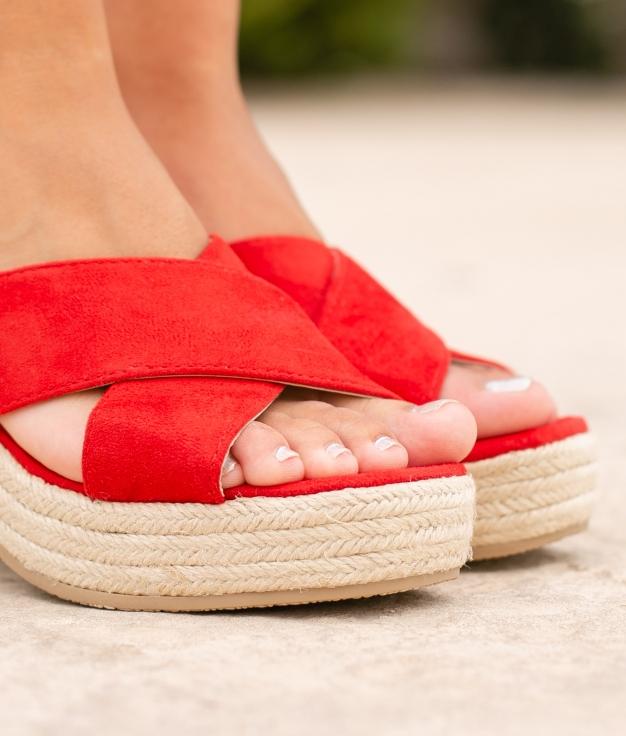 Sandalo Alto Oracu - Rosso