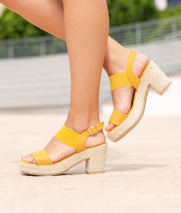 Sandália de Salto Aspi - Amarelo
