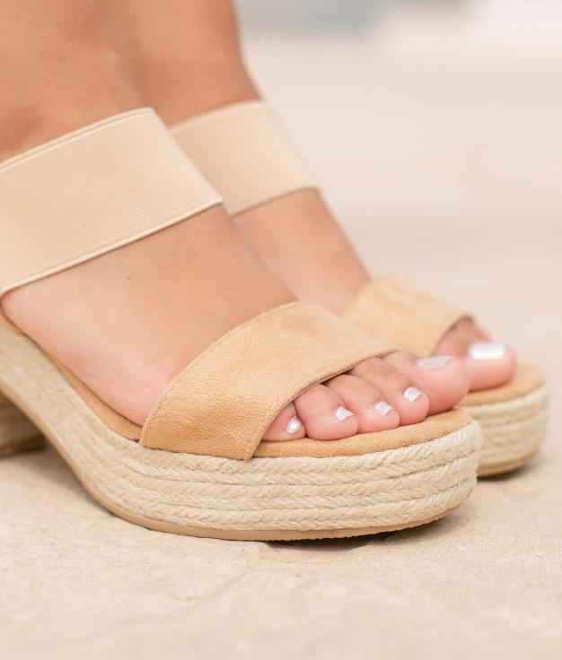 Sandália de Salto Aspi - Camelo