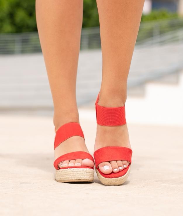 Sandalo Alto Aspi - Rosso