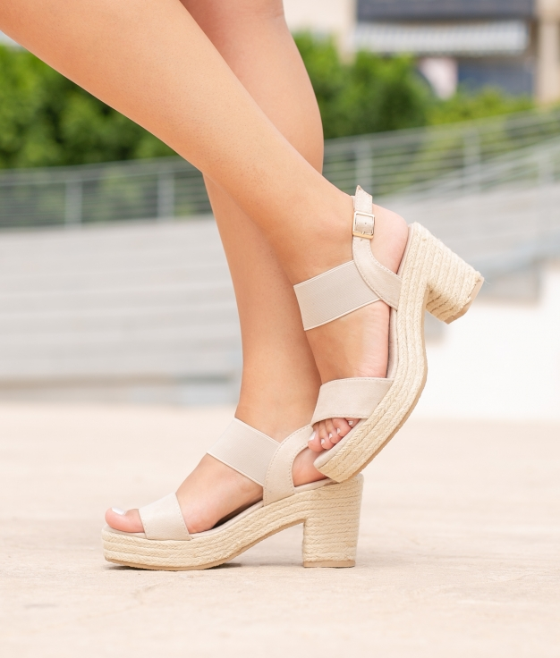 High Sandal Aspi - Beige