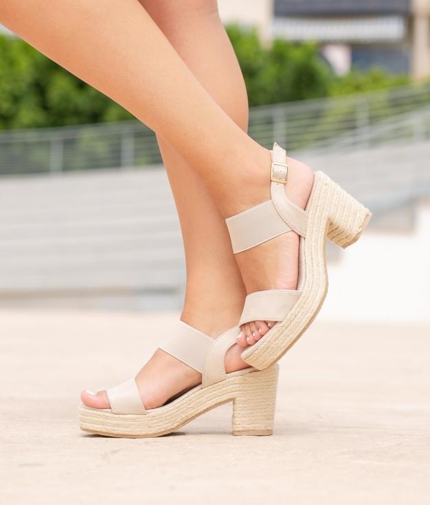Sandália de Salto Aspi - Bege