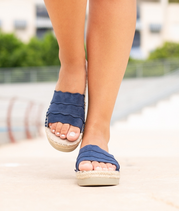 Sandália Kine - Azul Marinho
