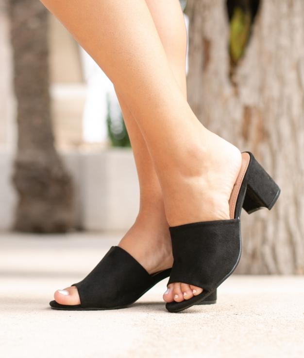 Sandália de Salto None - Preto