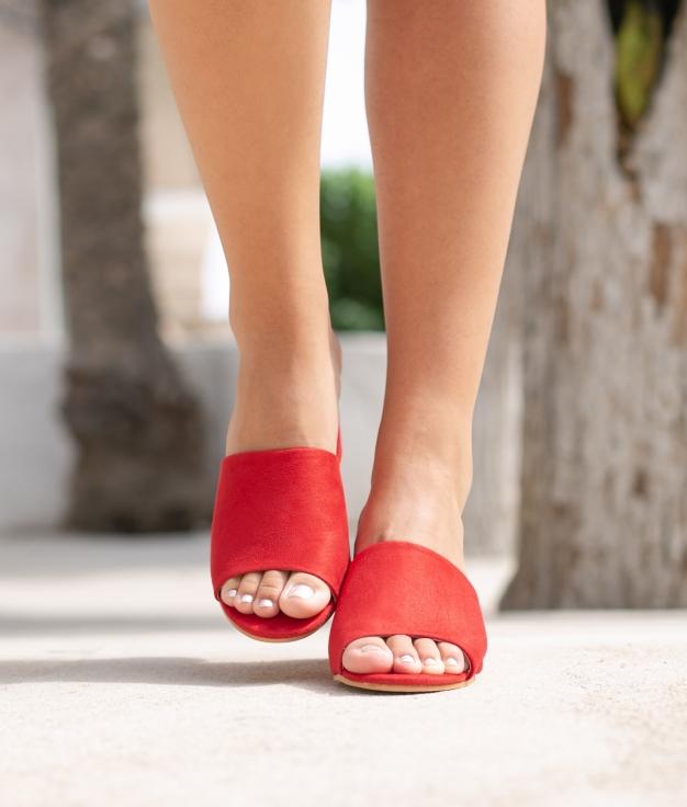 Sandália de Salto None - Vermelho