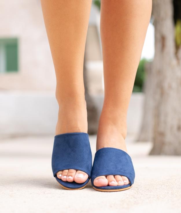 Sandália de Salto None - Azul Marinho
