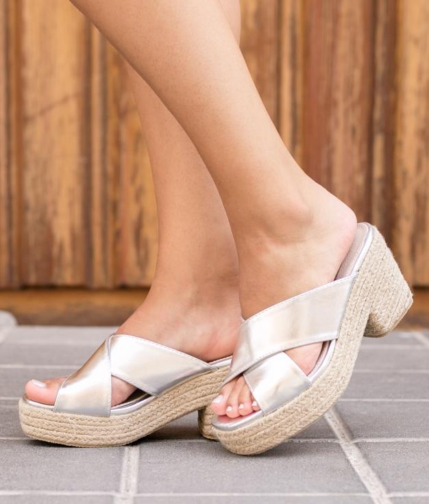 Sandalo Alto Pret - Argento