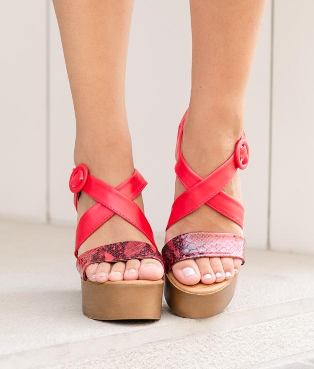 Sandália de Salto Beus - Vermelho