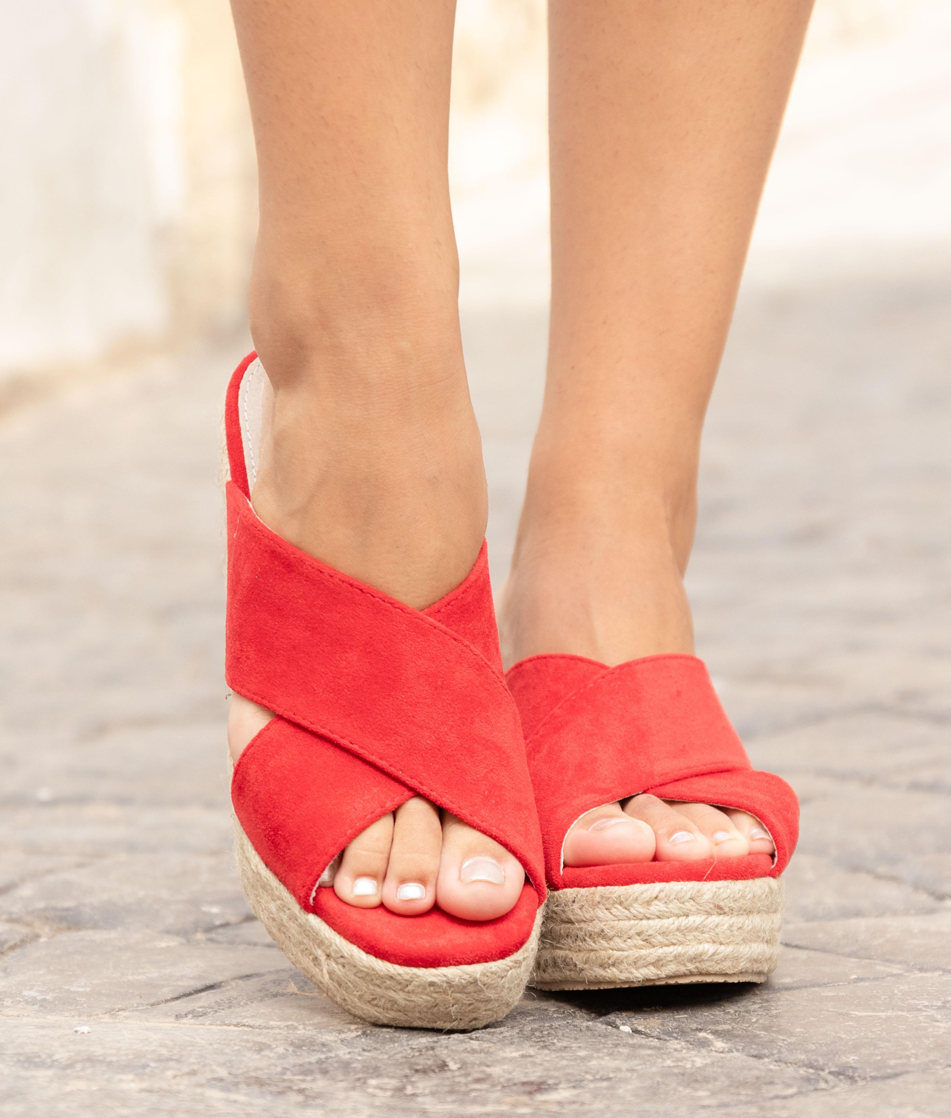 Sandale Talon Pret - Rouge