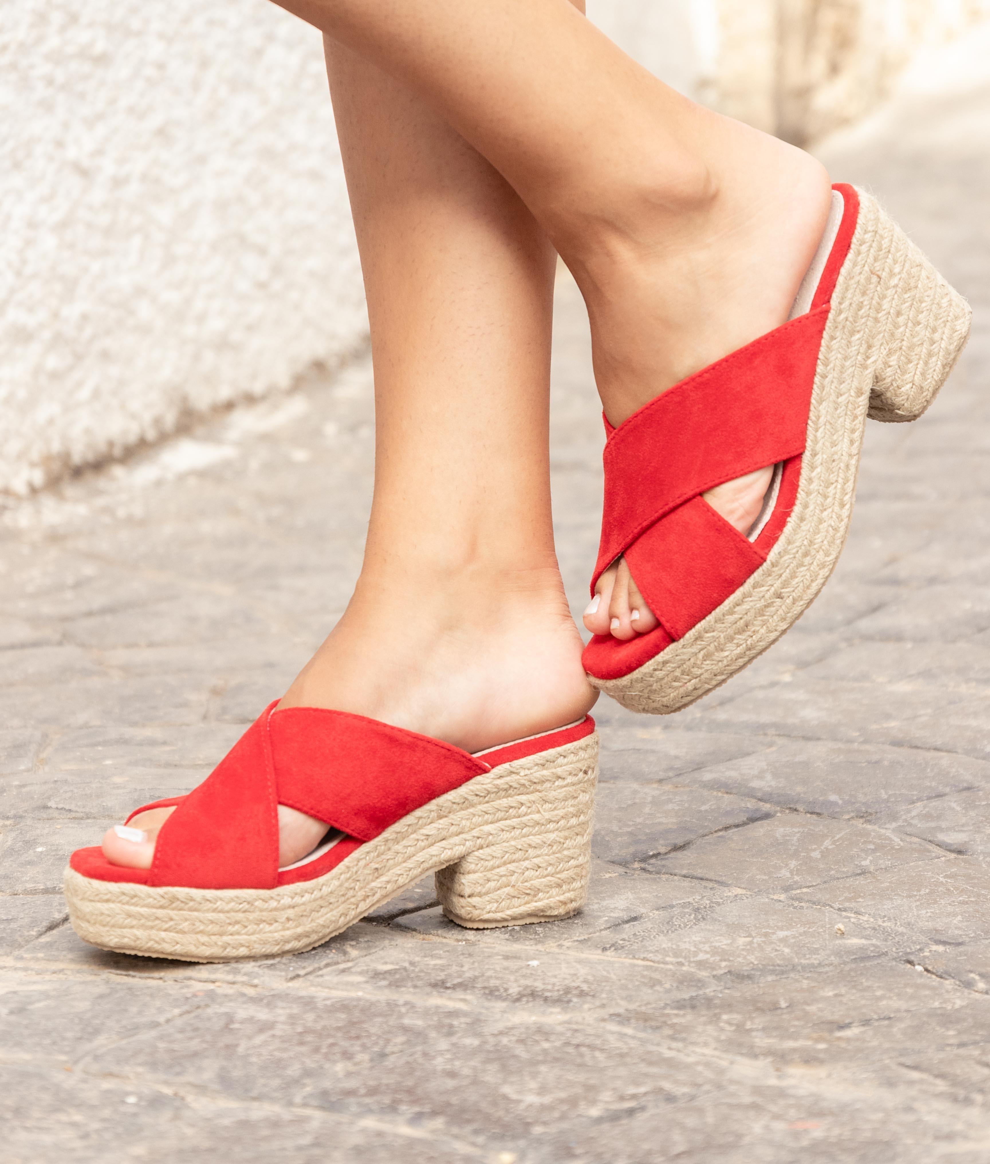 High Sandal Pret - Red