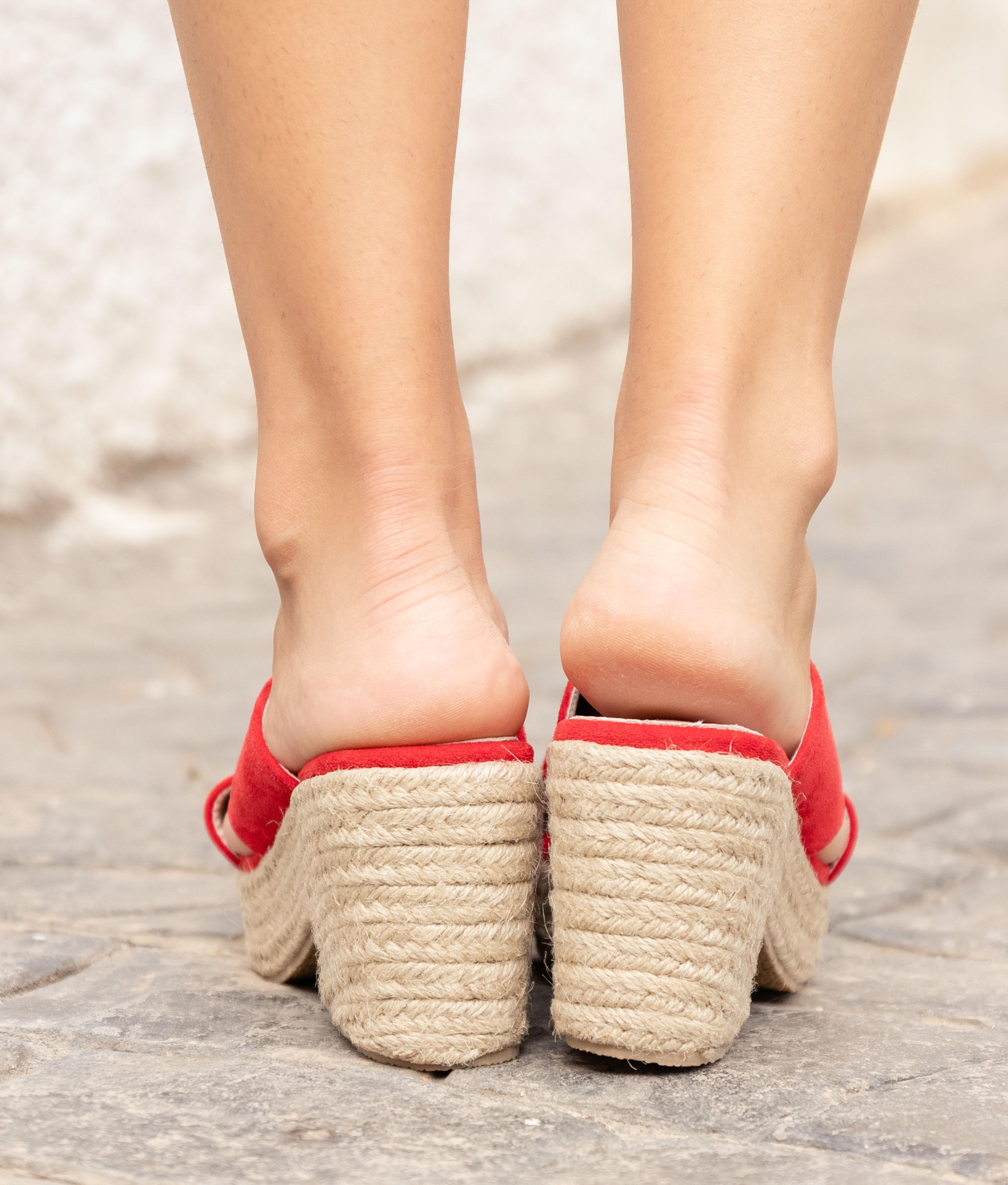 Sandália de Salto Pret - Vermelho