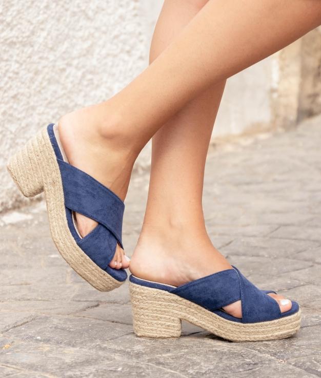 Sandália de Salto Pret - Azul