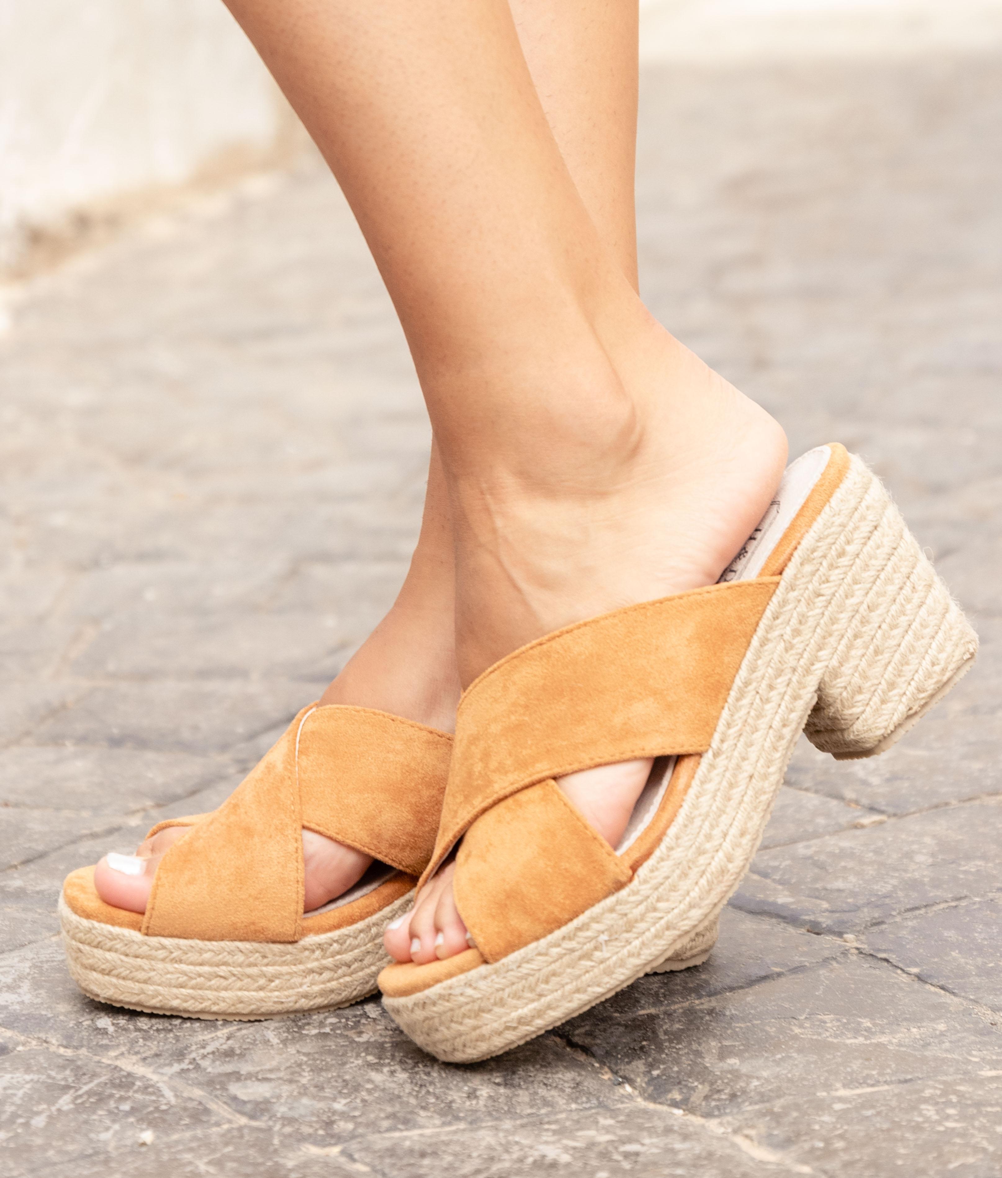 Sandalo Alto Pret - Cammello