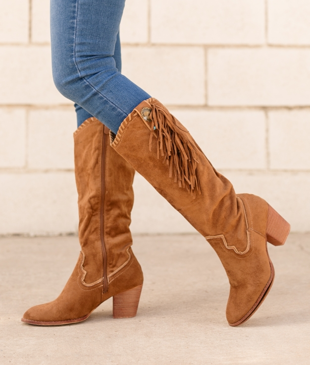 Knee-length Boot Subunt - Camel