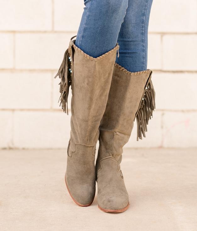Knee-length Boot Subunt - Green