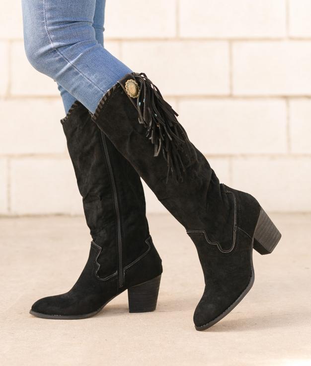 Knee-length Boot Subunt - Black