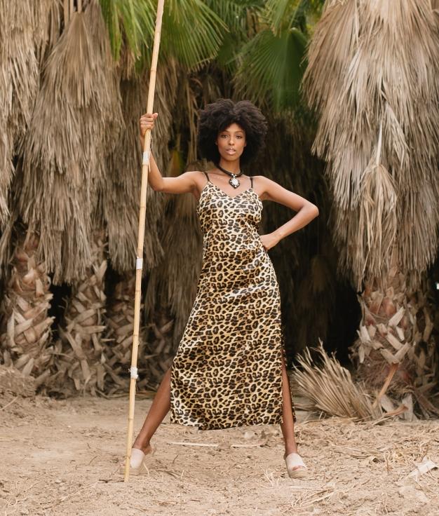 Vestido Helunus - Leopardo