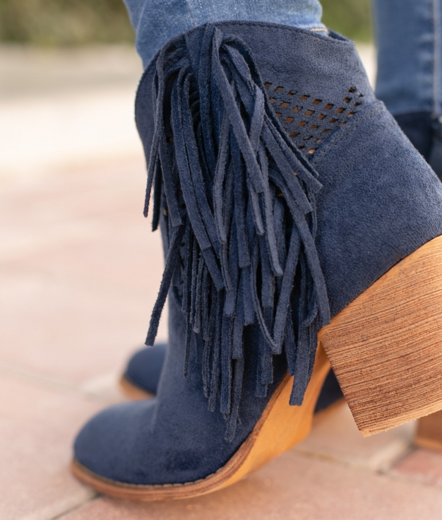 Low Boot Noges - Navy BLue
