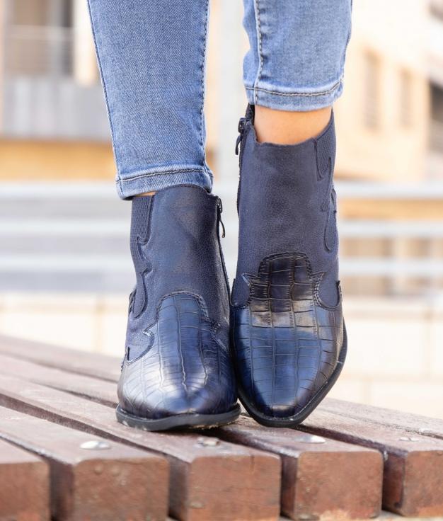 Low Boot Turet - Navy Blue