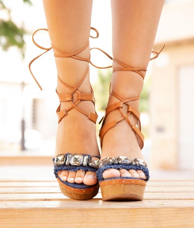 Sandalo Alto Berna - Blu Scuro