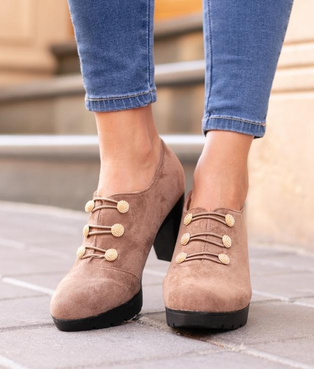 Sapato de Salto Moulin - Kaki