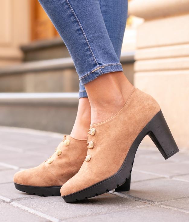 Sapato de Salto Moulin - Camelo