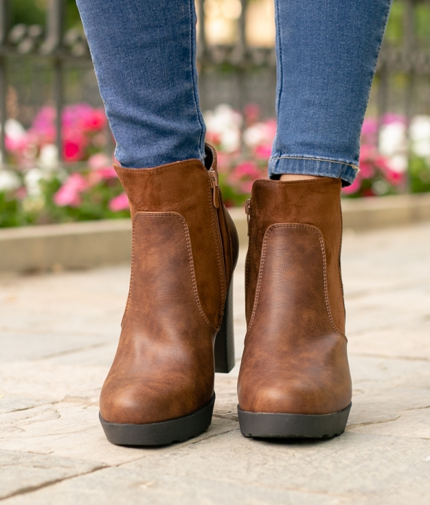 Low Boot Cowa - Camel