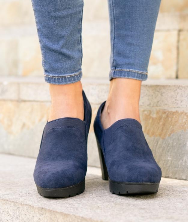 Zapato de Tacón Belcis - Azul Marino