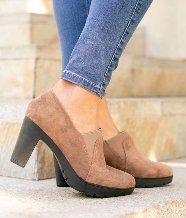 Sapato de Salto Belcis - Kaki