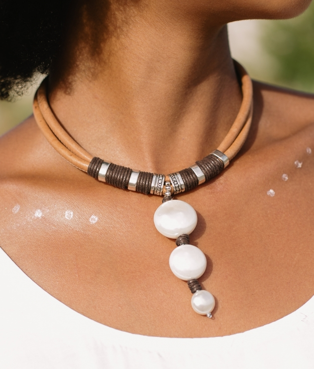 Necklace Denali - Brown