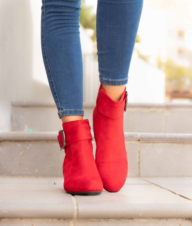 Low Boot Vige - Red
