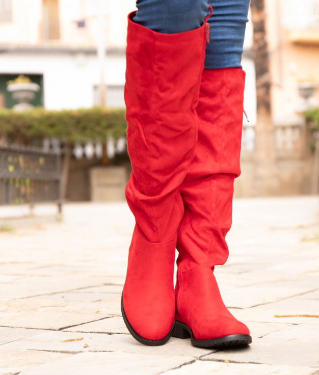 Knee-length Boot Loster - Red