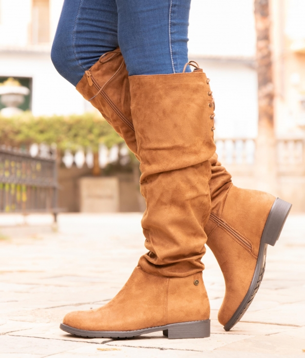 Knee-length Boot Loster - Camel