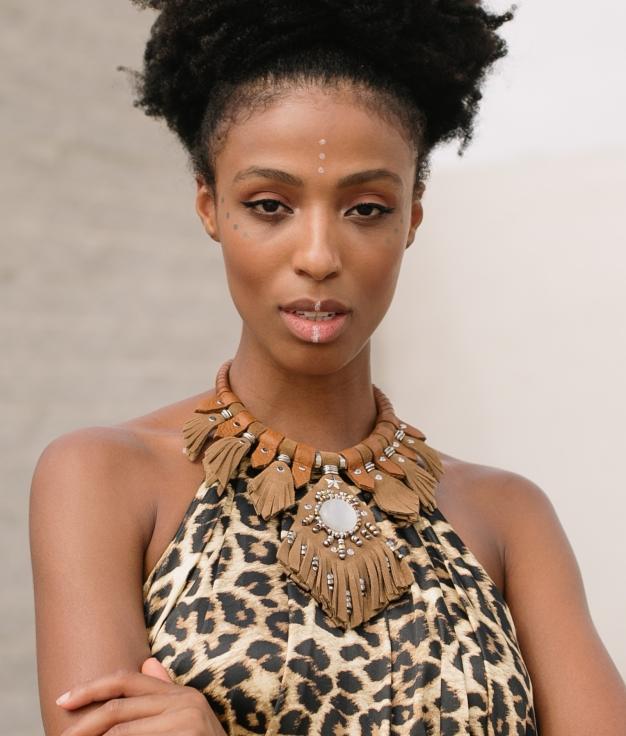 Necklace Kuba - Brown
