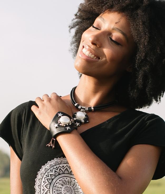 Bracelet Anjaline - Noir