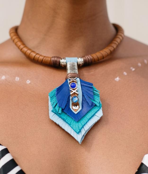 Necklace Kuzco - Blue