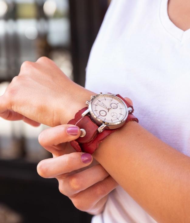 Reloj Sparrow - Vermelho