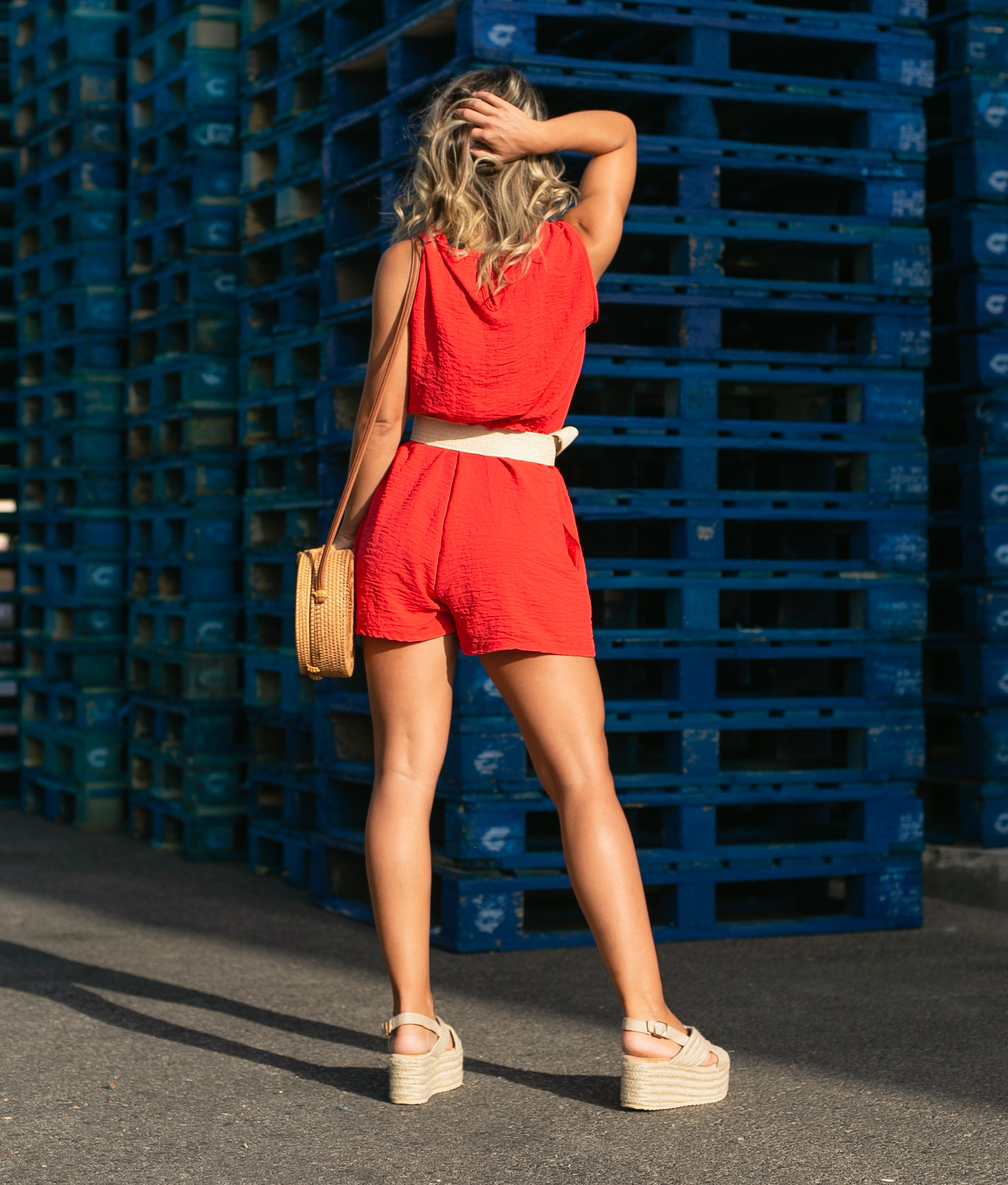 Jumpsuit Hermin - Red