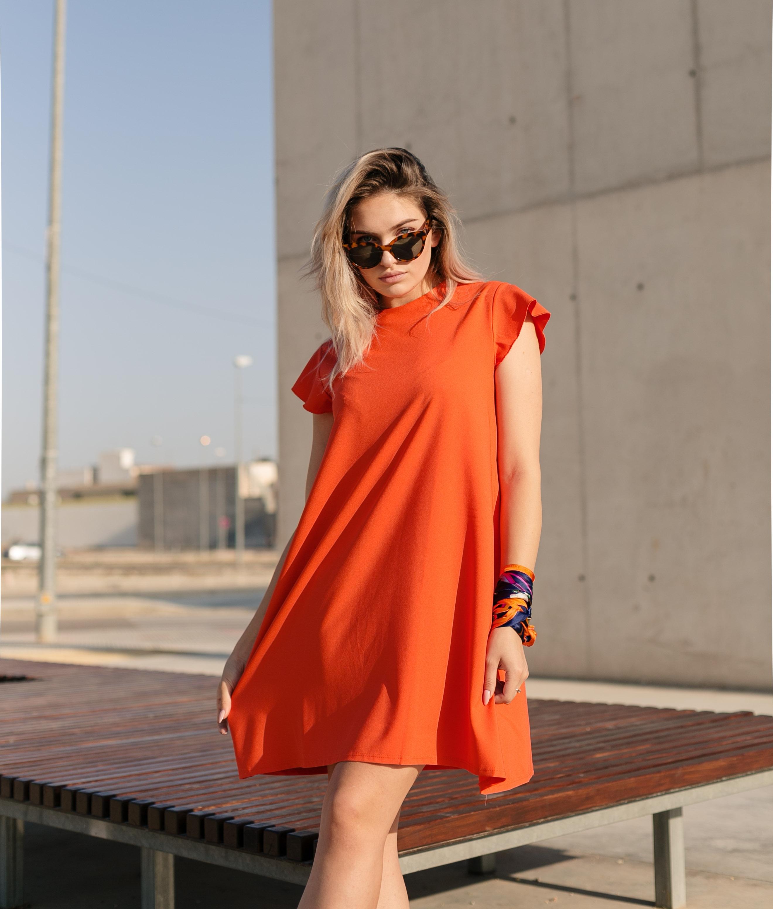 Vestido Suri - Laranja