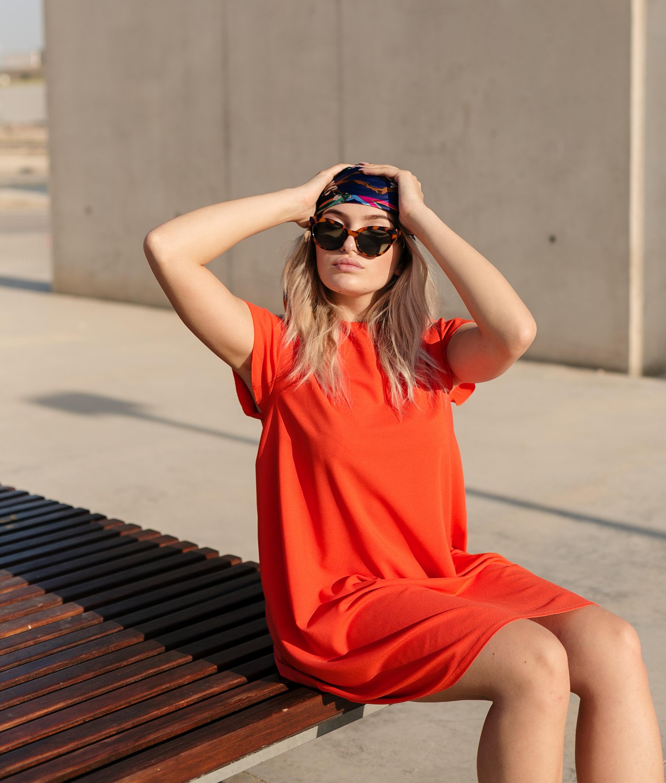 Vestido Suri - Naranja