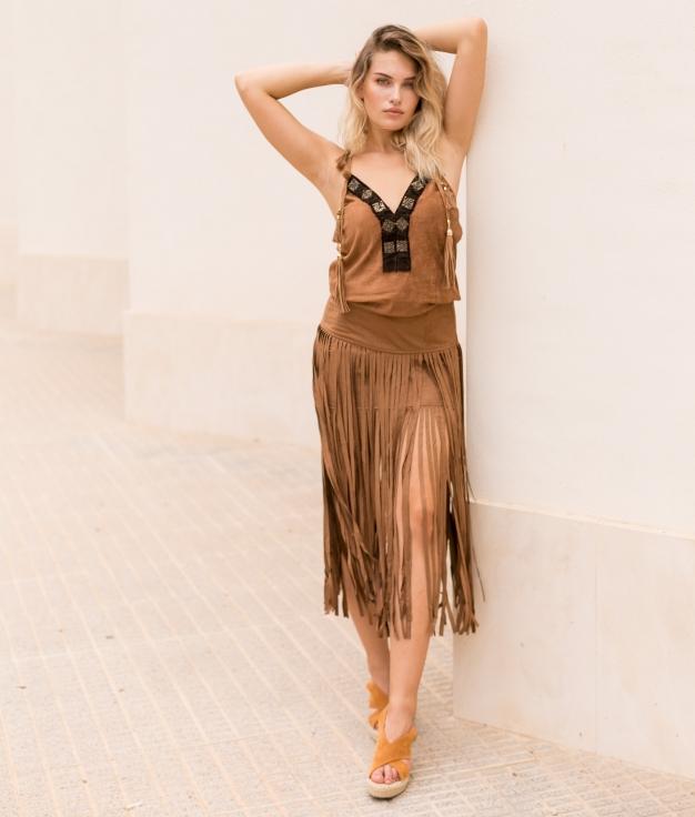 Skirt Nisedal - Camel