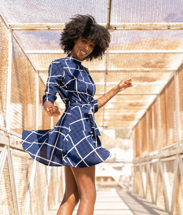 Vestido Indore - Azul Marino