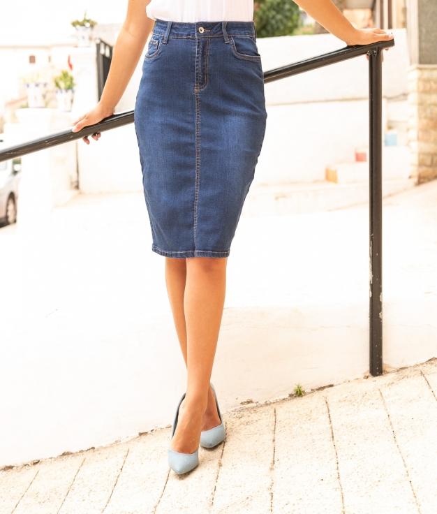 Skirt Esmica - Denim