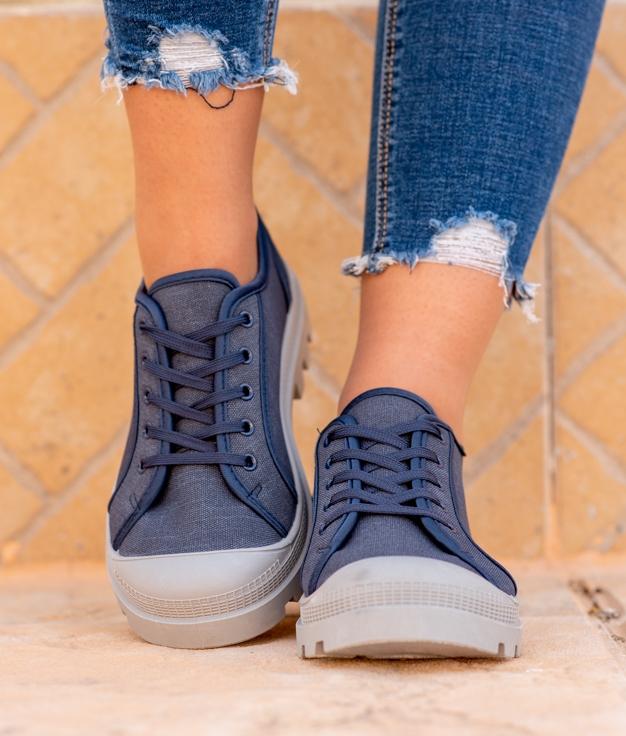 Sneakers Yuca - Blu Marino